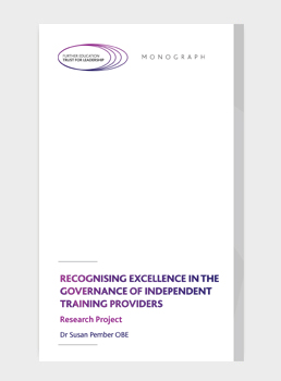 Recognising Excellence In The Governance of Independent Training Providers