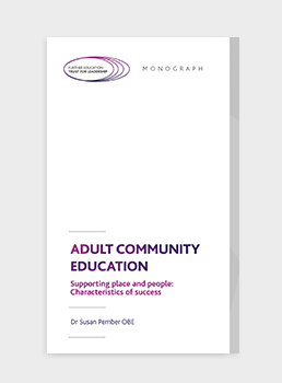 Adult Community Education: Supporting place and people: Characteristics of success