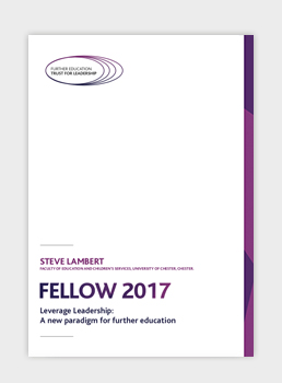 Leverage Leadership: A new paradigm for further education