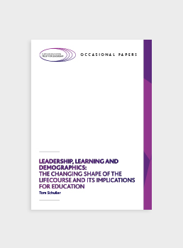 Leadership, Learning and Demographics: The Changing Shape of the Lifecourse and its Implications for Education