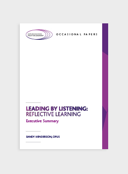 Leading by Listening: Reflective Learning