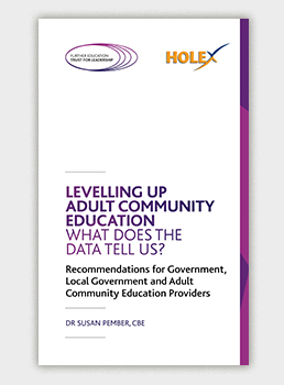 Levelling Up Adult Community Education